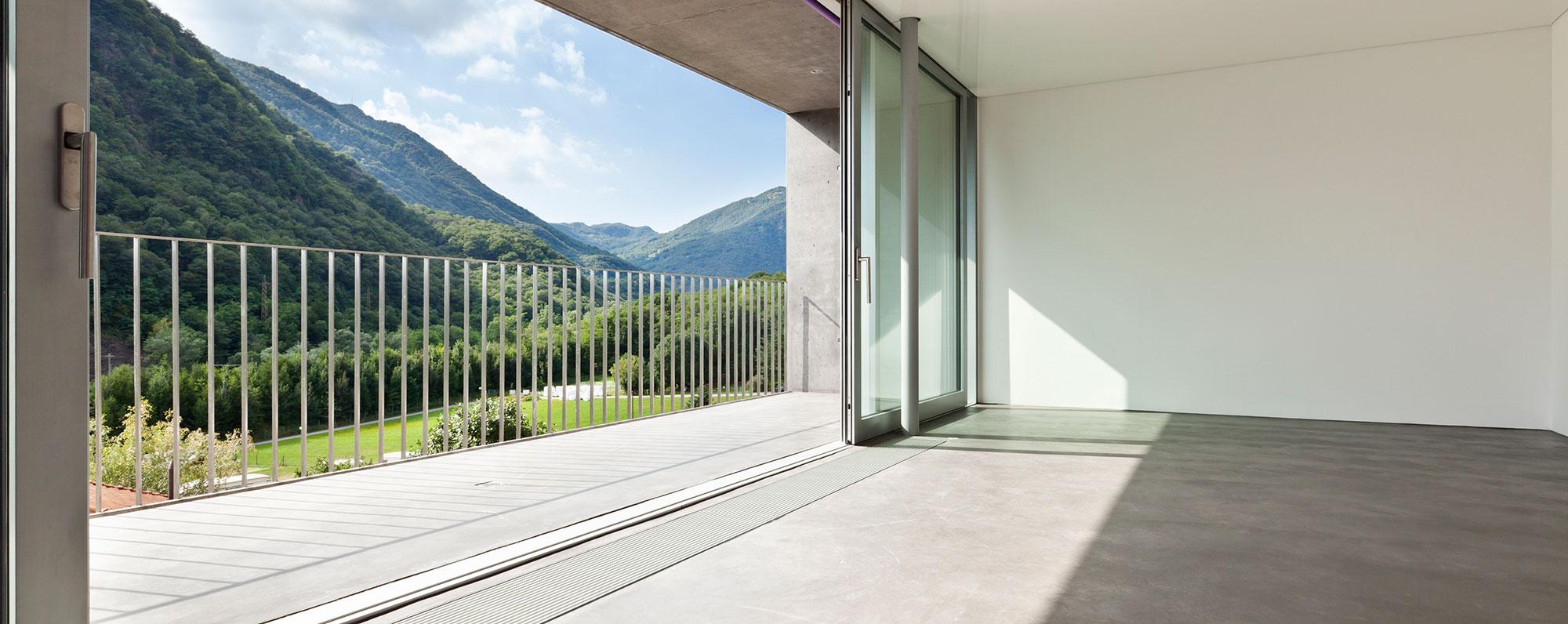 Раздвижные алюминиевые окна от производителя