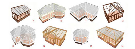конструкції зимових садів